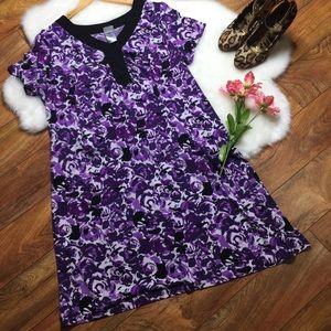 Just My Size floral purple dress